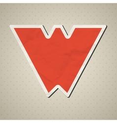 Paper alphabet vector image vector image