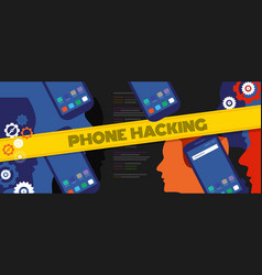 phone hacking security code privacy data cyber vector image