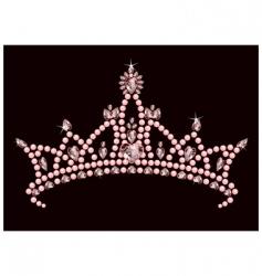 princess crown vector image vector image