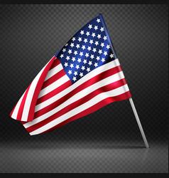 american banner wavy flying flag usa flag vector image