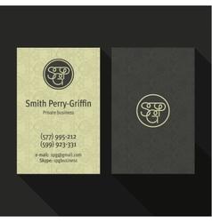 Business Card Qualitative elegant logo and vector image