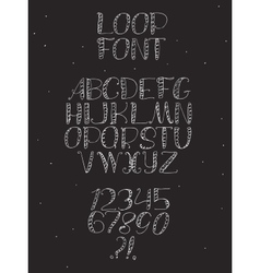 Freehand hand drawn white font with english vector image vector image