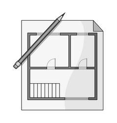 house planrealtor single icon in monochrome style vector image vector image