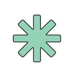 star icon Eps10 vector image