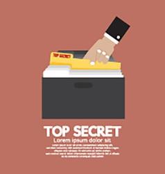 Top Secret Folder In Hand vector image
