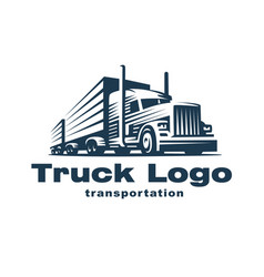 truck logo on white background vector image vector image