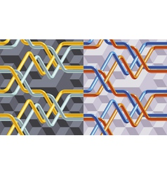 Abstract veins pattern vector image