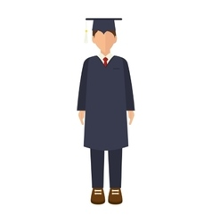 Academic graduation man vector