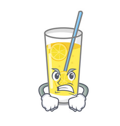 Angry lemonade mascot cartoon style vector