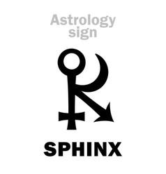 Astrology asteroid sphinx vector