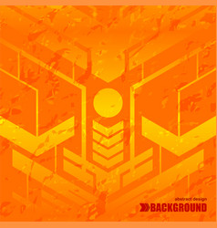 background orange texture space vector image