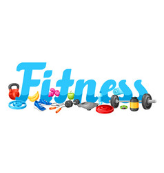 background with fitness equipment vector image