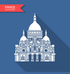 basilica sacre coeur paris france monument vector image