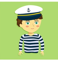 Boy with Captain Hat and Costume vector