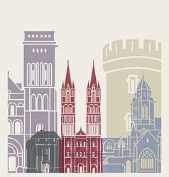 Caen skyline poster vector image