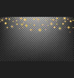 christmas stars shiny gold glowing stars vector image