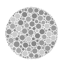 Circle made of dots vector image