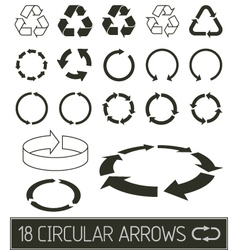 Circular arrows collection vector
