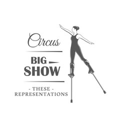 Circus label isolated on white background vector