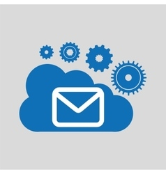 cloud network email message connection design vector image