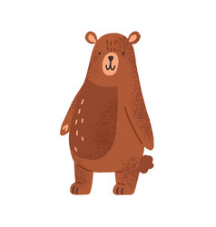 cute childish animal character in simple style vector image