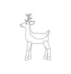 deer coloring page vector image