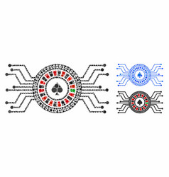 digital casino roulette composition icon of vector image