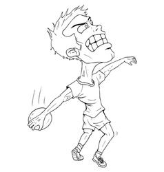 Disc Thrower Cartoon vector image