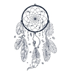 Drawing of Dreamcatcher vector