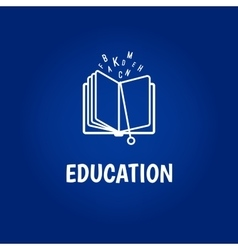 Education logo with book vector