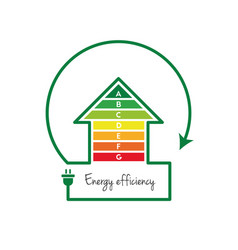 Energy efficient house vector