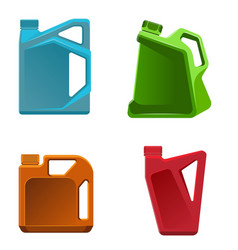 Engine oil bottle different vector