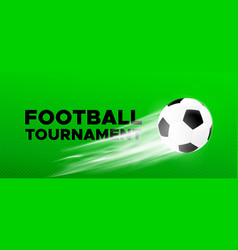 Football sport poster design with soccer ball vector