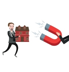 grab home house foreclosure try to defend vector image