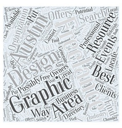 Graphic design austin Word Cloud Concept vector