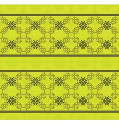 Green floral lace pattern vector
