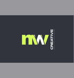 Green letter nw n w combination logo icon company vector