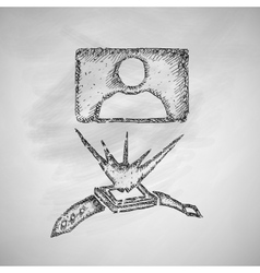 Hologram icon vector
