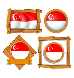 Icon design for flag of singapore vector