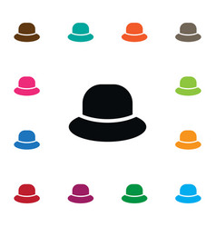 Isolated cap icon trilby element can be vector