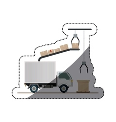 Isolated delivery truck design vector