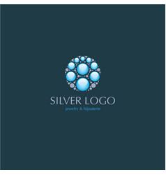 Jewelry beauty silver logo vector