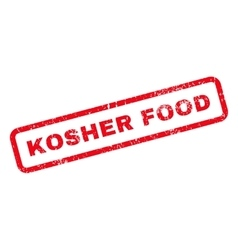 Kosher Food Text Rubber Stamp vector