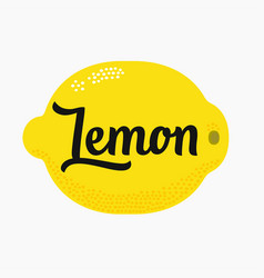 Lemon with lettering type vector