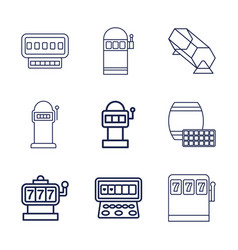 Lottery icons vector