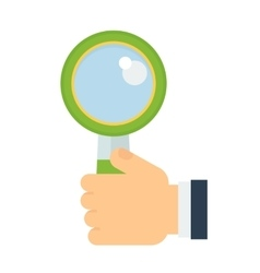 magnifying glass in hand vector image