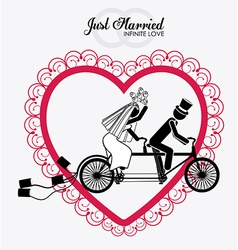 Married couple design vector