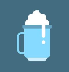 Milkshake chirstmas menu flat style icon vector