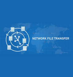 network file transfer nft sharing exchanging vector image