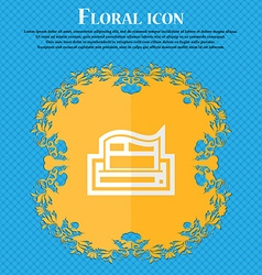 Newspaper Floral flat design on a blue abstract vector image